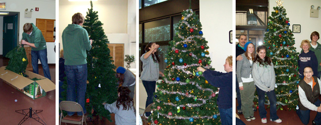 Schoeneck Donates, Assembles and Trims Christmas Tree